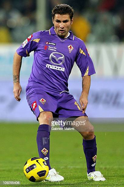 Adrian Mutu of ACF Fiorentina in action during the Serie A match between ACF Fiorentina and FC Internazionale Milano at Stadio Artemio Franchi on...