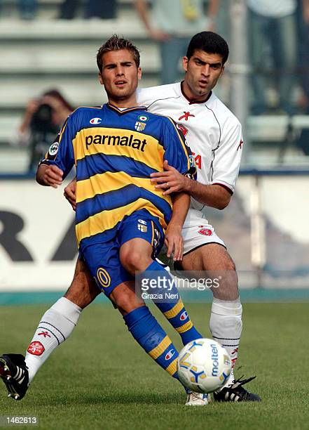 Adrian Mutu of Parma in action during the Serie A match between Parma and Perugia played at the Ennio Tardini Stadium Parma on October 6 2002