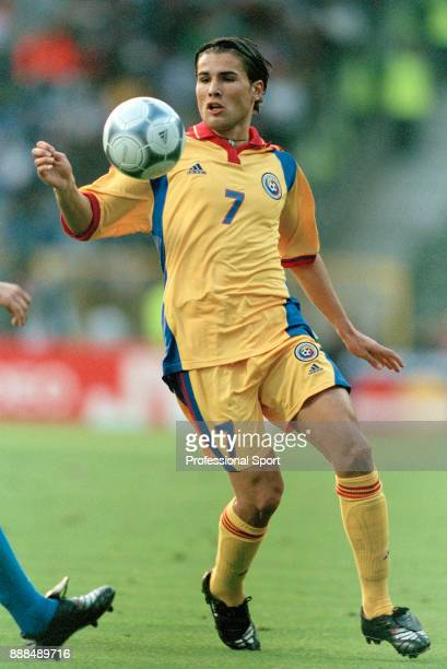 Adrian Mutu of Romania in action during the UEFA Euro 2000 Quarter Final between Italy and Romania at the King Baudouin Stadium on June 24 2000 in...