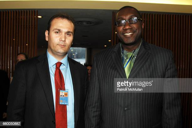 Adrian Neritani and Henry MacDonald attend WELCOME TO GULU EXHIBITION AND BENEFIT ART SALE ANTIHUMAN TRAFFICKING INNITIATIVE at The United Nations on...