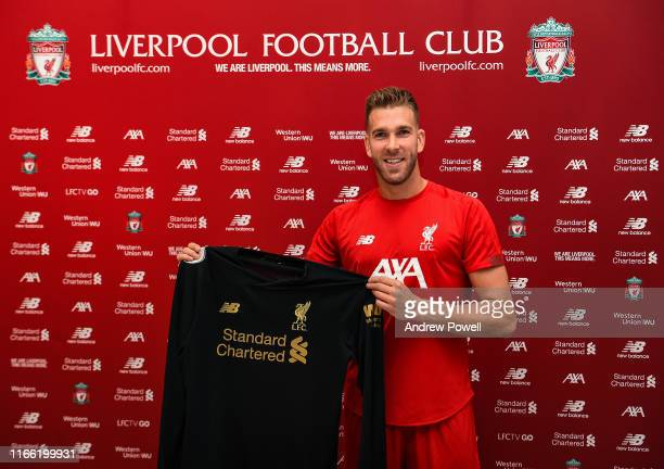 Adrian new signing for Liverpool at Melwood Training Ground on August 05 2019 in Liverpool England