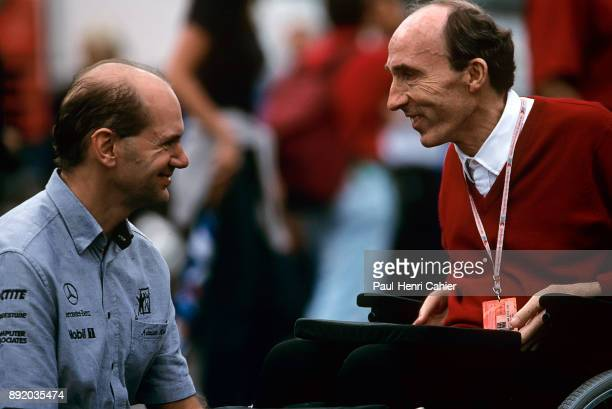 Adrian Newey Frank Williams Grand Prix of Germany Hockenheimring 02 August 1998 Adrian Newey with Frank Williams