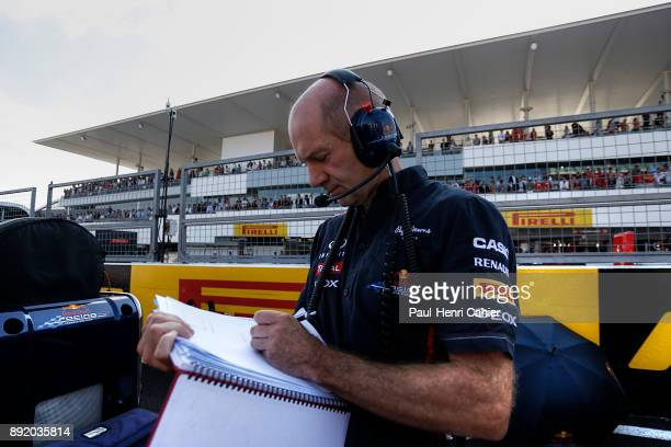 Adrian Newey Grand Prix of Japan Suzuka Circuit 07 October 2012 Adrian Newey taking notes on the starting grid of the 2012 Japanese Grand Prix in...