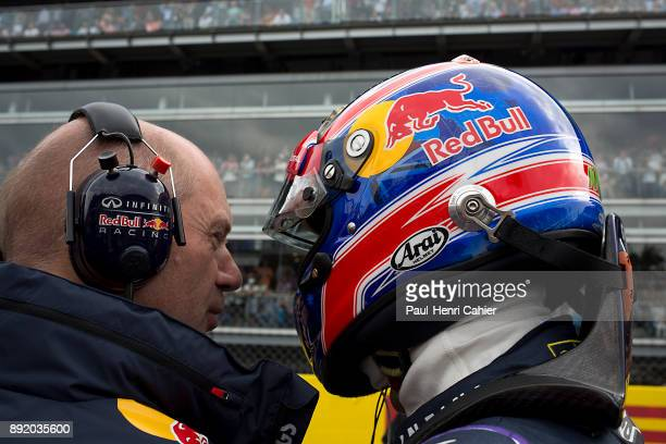 Adrian Newey Mark Webber Grand Prix of Italy Autodromo Nazionale Monza 08 September 2013 Adrian Newey with Mark Webber