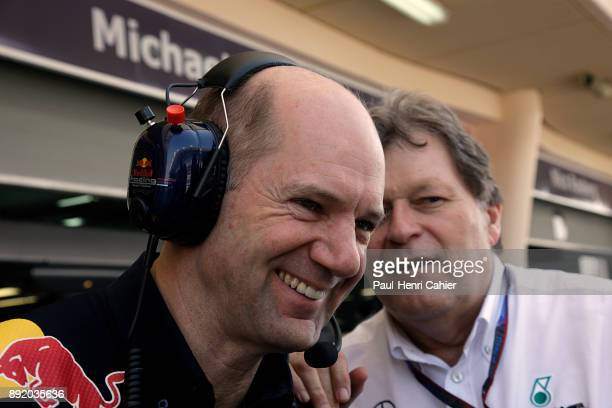 Adrian Newey Norbert Haug Grand Prix of Bahrain Bahrain International Circuit 14 March 2010 Adrian Newey with Norbert Haug Vice President of...