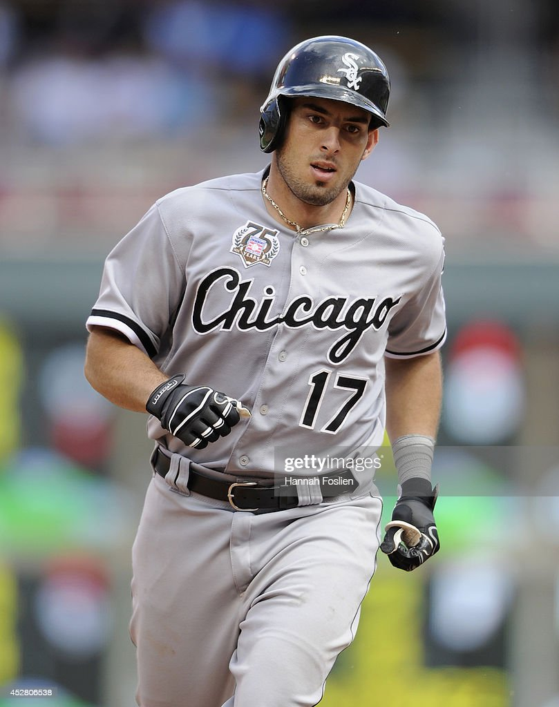 Adrian Nieto #17 of the Chicago White Sox rounds the bases after hitting a solo home run against the Minnesota Twins during the eighth inning of the game on July 27, 2014 at Target Field in Minneapolis, Minnesota. The Twins defeated the White Sox 4-3.