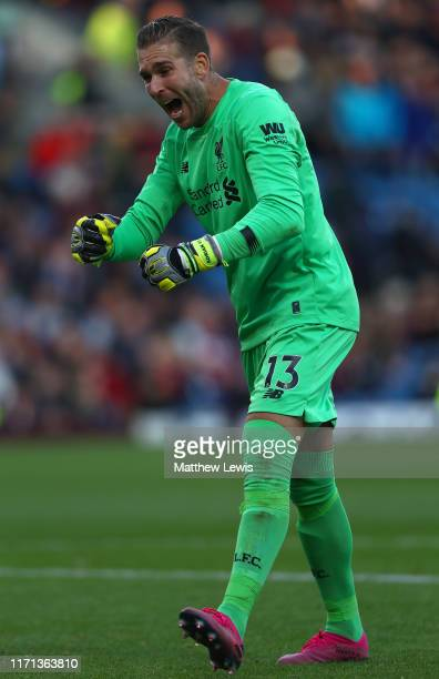 Adrian of Liverpool celebrates following his sides victory in the Premier League match between Burnley FC and Liverpool FC at Turf Moor on August 31,...