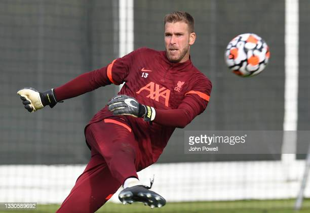Adrian of Liverpool during a training session on July 25, 2021 in UNSPECIFIED, Austria.