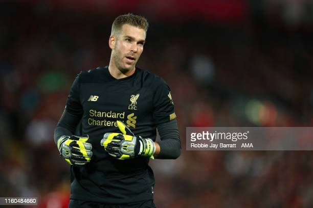 Adrian of Liverpool during the Premier League match between Liverpool FC and Norwich City at Anfield on August 9 2019 in Liverpool United Kingdom