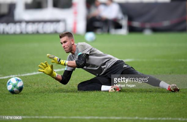 Adrian of Liverpool in action during a Liverpool Training Session ahead of the UEFA Super Cup Final between Liverpool and Chelsea at the Vodafone...