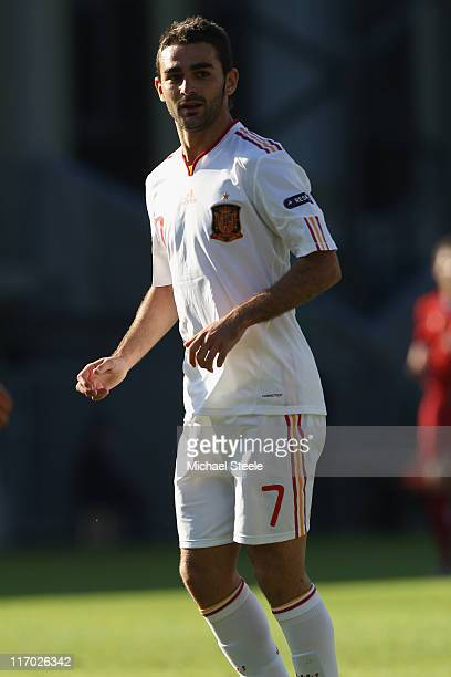 Adrian of Spain during the UEFA European Under21 Championship Group B match between Czech Republic and Spain at the Viborg Stadium on June 15 2011 in...