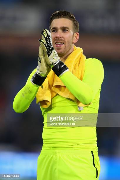 Adrian of West Ham United applauds the crowd after the Premier League match between Huddersfield Town and West Ham United at John Smith's Stadium on...
