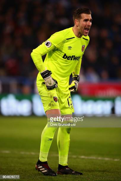 Adrian of West Ham United in action during the Premier League match between Huddersfield Town and West Ham United at John Smith's Stadium on January...