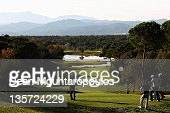 Adrian Otaegui of Spain hits his tee shot on the 13th hole during Round 4 of the European Tour Qualifying School Final at the PGA Catalunya Resort...