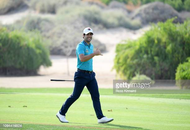 Adrian Otaegui of Spain walks on the 13th hole during the ProAm ahead of the Abu Dhabi HSBC Golf Championship at the Abu Dhabi Golf Club on January...