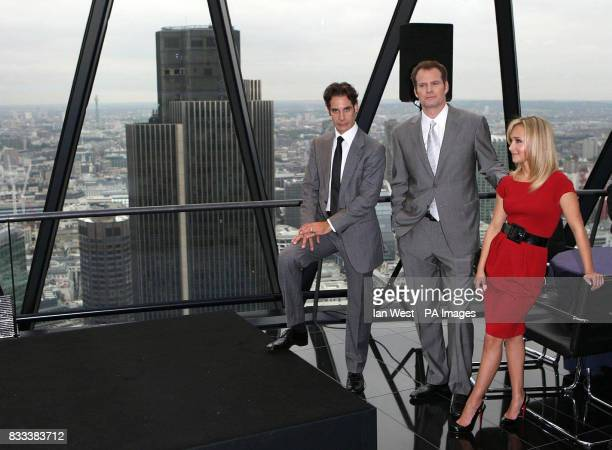Adrian Pasdar Jack Coleman Hayden Panettiere from the cast of Heroes attend a photocall at 30 St Mary Axe in the City of London