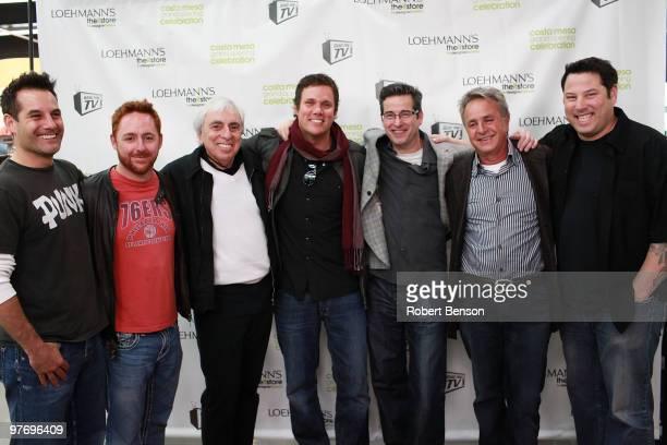 Adrian Pasdar, Scott Grimes, President of Loehmanns Bob Glass, Bob Guiney, Loehmanns Senior VP Tony D'Annibale, Loehmann's CEO Jerry Politzer and...