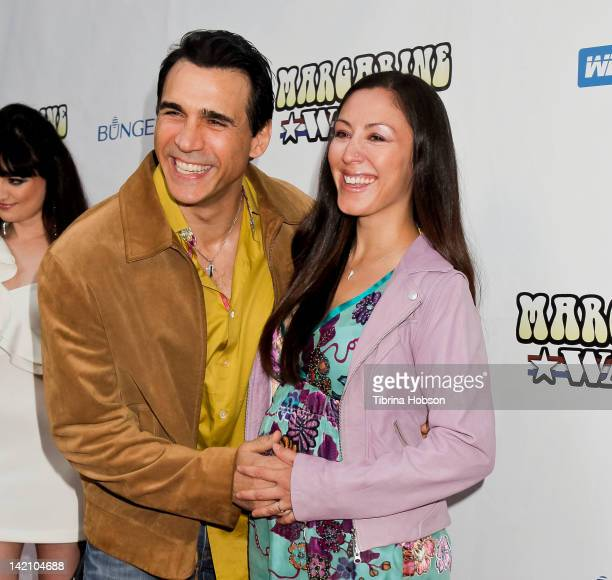 Adrian Paul and Alexandra Tonelli attend the 'Margarine Wars' Los Angeles premiere at ArcLight Hollywood on March 29, 2012 in Hollywood, California.