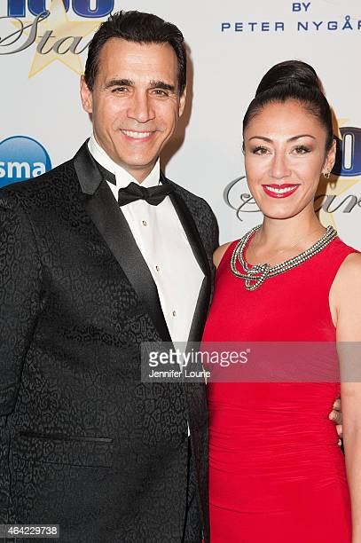 Adrian Paul and guest arrive at The Norby Walters 25th Annual Night of 100 Stars Oscar Viewing Gala at The Beverly Hilton Hotel on February 22 2015...
