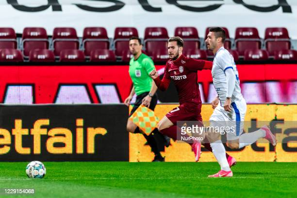 Adrian Paun in action during the 7th game in the Romania League 1 between CFR Cluj and FC Botosani, at Dr.-Constantin-Radulescu-Stadium, Cluj-Napoca,...