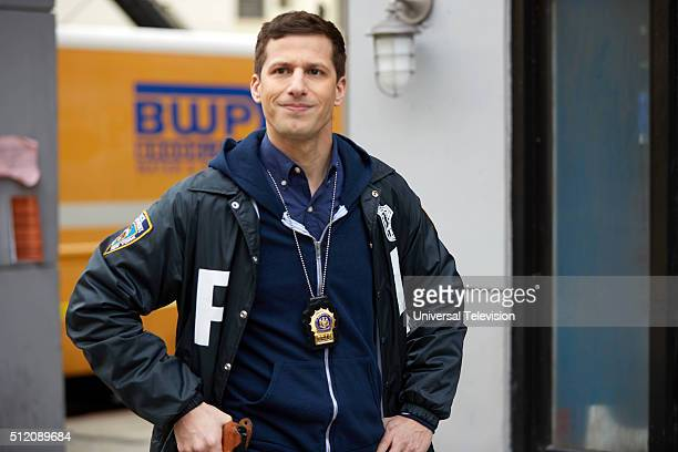 NINE 'Adrian Pimento' Episode 317 Pictured Andy Samberg as Jake Peralta