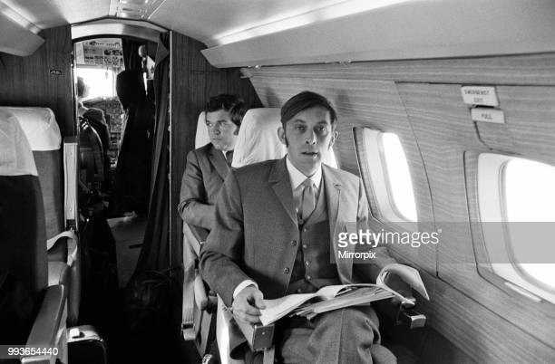 Adrian Pollicutt who works for Concorde commutes from Filton England to Toulouse France Adrian aboard the 125 Executive jet 10th May 1972