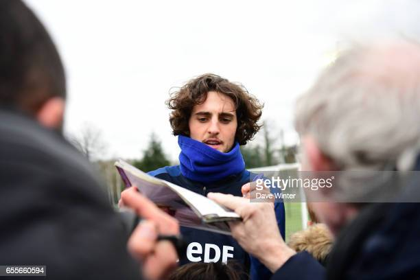 Adrian Rabiot of France during the trainig session of the soccer french national team at Centre National du Football on March 20 2017 in...