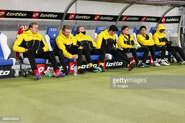 Adrian Ramos of Dortmund Shinji Kagawa of Dortmund Emre Mor of Dortmund Mikel Merino of Dortmund Felix Passlack of Dortmund and Andre Schuerrle of...