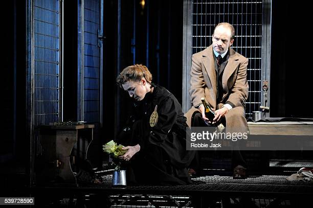 Adrian Rawlins and Lesley Manville perform in the National Theatre's production of Rebecca Lenkiewicz's play 'Her Naked Skin' at the National Theatre...