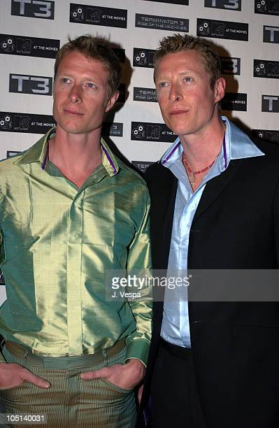 Adrian Rayment and Neil Rayment during 2003 Cannes Film Festival MTV T3 Party at Pierre Cardin Villa in Cannes France