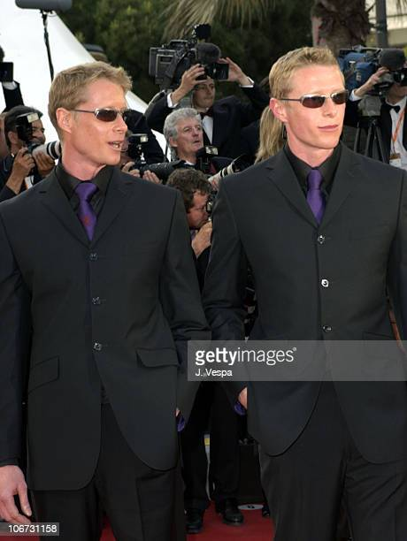 Adrian Rayment and Neil Rayment during 2003 Cannes Film Festival The Matrix Reloaded Premiere at Palais des Festivals in Cannes France