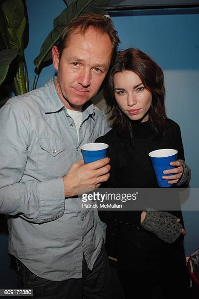 Adrian Saker and Annie Henley attend The Hollywould Lonely Hearts Kegger with Draft Magazine Valentines Day Party at Hollywould Boutique NYC on...
