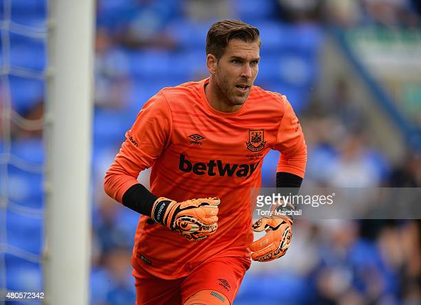 Adrian San Miguel of West Ham United during the Pre Season Friendly match between Peterborough United and West Ham United at London Road Stadium on...