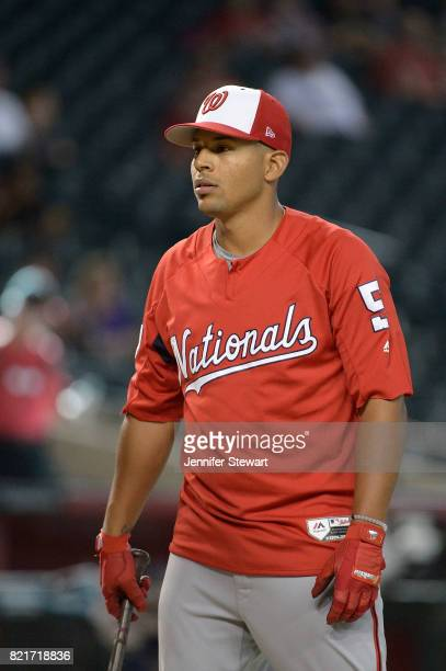 Adrian Sanchez of the Washington Nationals during batting practice for the MLB game against the Arizona Diamondbacks at Chase Field on July 22 2017...