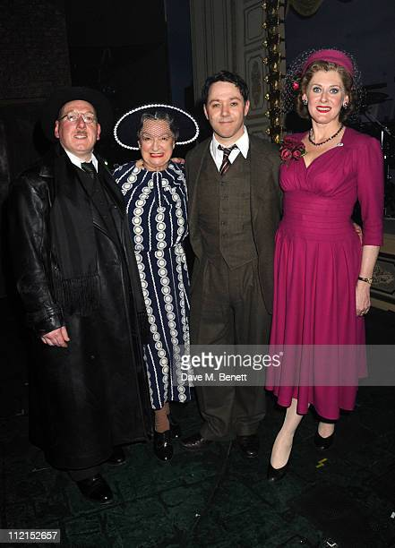 Adrian Scarborough Ann Emery Reece Shearsmith and Sarah Lancashire attend the press night of 'Betty Blue Eyes' at The Novello Theatre on April 13...