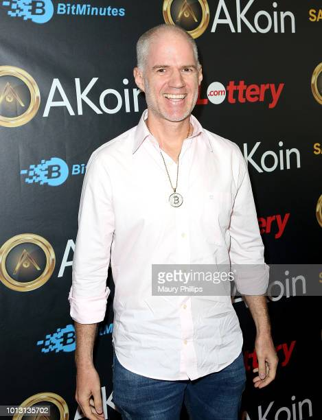 Adrian Scott attends a private launch for Akon's Cryptocurrency AKoin on August 7 2018 in West Hollywood California