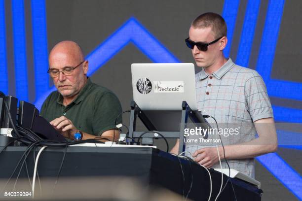 Adrian Sherwood and Rob Ellis of Sherwood And Pinch perform at the House of Common Festival at Clapham Common on August 28 2017 in London England