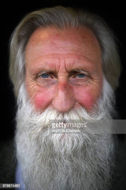 Adrian Shine who runs the Loch Ness Project poses for a photograph in his office in the Scottish Highlands Scotland on June 11 2018 Tales of a giant...