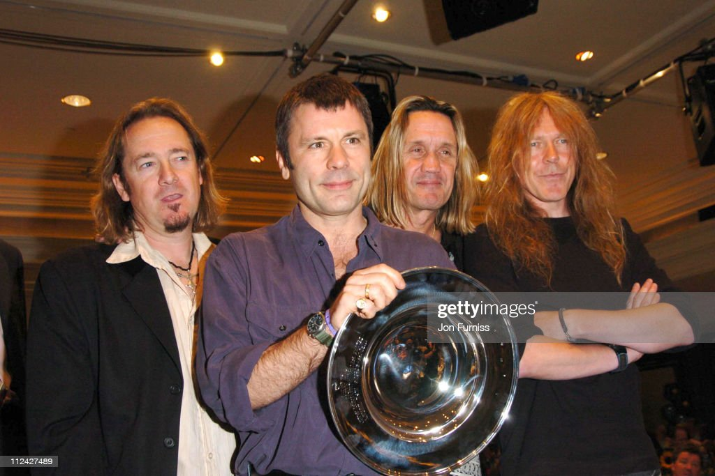 Adrian Smith, Bruce Dickinson, Nicko McBrain and Janick Gers of Iron Maiden