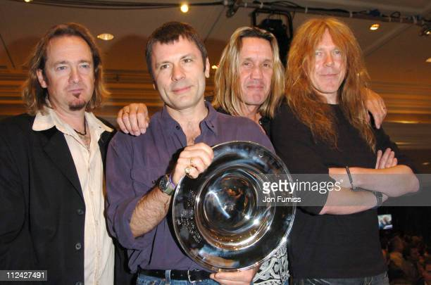 Adrian Smith Bruce Dickinson Nicko McBrain and Janick Gers of Iron Maiden