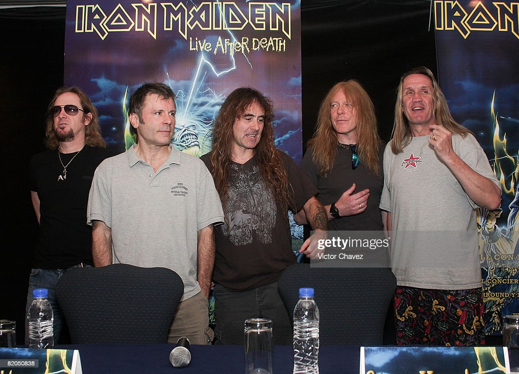 """Iron Maiden """"Live After Death"""" DVD Press Conference In Mexico City : News Photo"""