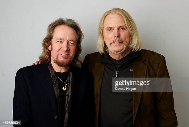 Adrian Smith from Iron Maiden and Scott Gorham from Thin Lizzy attend the Zoom F1 Charity auction in aid of Great Ormond Street Hospital Children's...