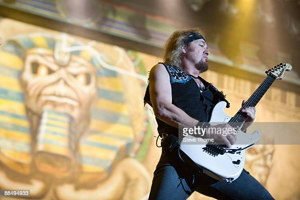 Adrian Smith from Iron Maiden performing live at the Sziget Music Festival Budapest Hungary on August 12 2008