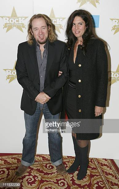 Adrian Smith of Iron Maiden and guest during Classic Rock Roll of Honor Inside Arrivals at Langham Hotel in London Great Britain