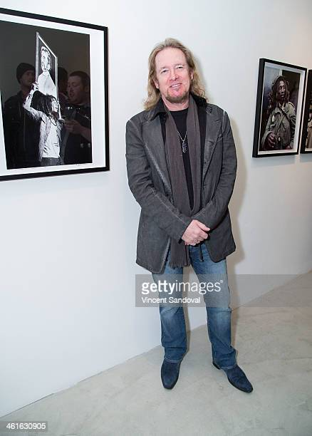 Adrian Smith of Iron Maiden attends the Bob Marley I And Eye The Photos of Kim GottliebWalker19751976 private preview reception at KM Fine Arts LA...