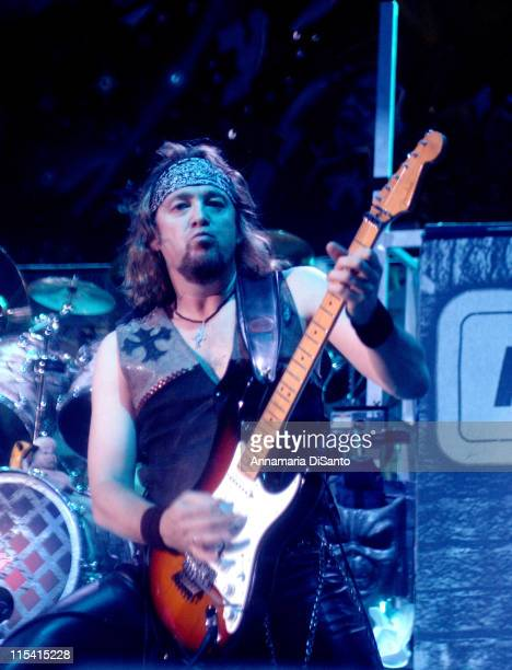 Adrian Smith of Iron Maiden during Iron Maiden at Ozzfest 2005 in Devore CA August 20 2005 at Hyundai Pavillion in Devore California United States