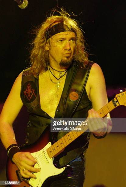 Adrian Smith of Iron Maiden during Iron Maiden in Concert at Long Beach Arena on August 25 2003 at Long Beach Arena in Long Beach California United...