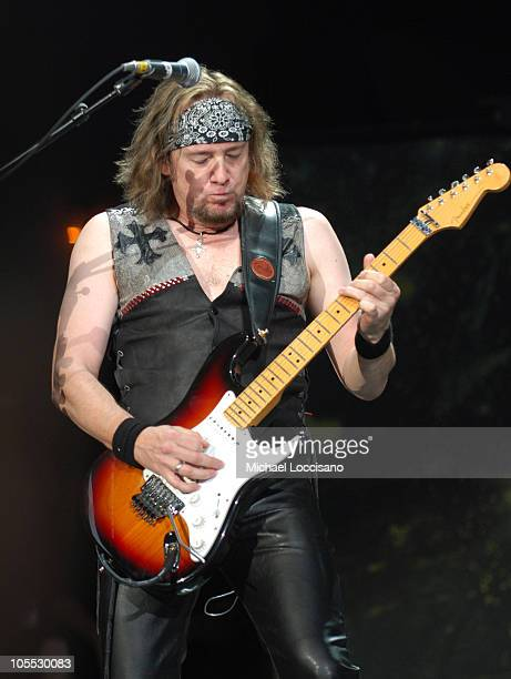 Adrian Smith of Iron Maiden during OzzFest 2005 PNC Bank Arts Center in Holmdel July 26 2005 at PNC Bank Arts Center in Holmdel New Jersey United...