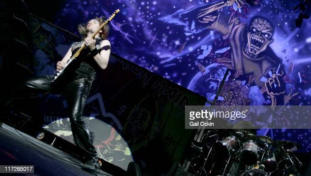 Adrian Smith of Iron Maiden during OZZFEST 2005 Tour Opener at the Tweeter Center in Mansfield MA July 15 2005 at Tweeter Center in Mansfield...