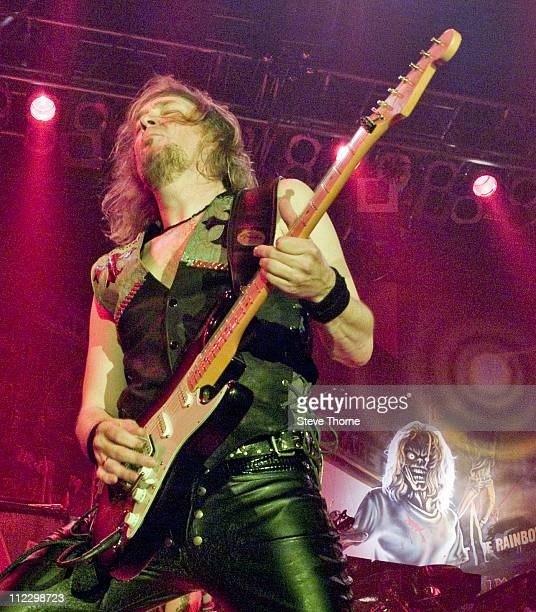 Adrian Smith of Iron Maiden performs on stage at the TMobile Arena Prague Czech Republic on the 28th May 2005